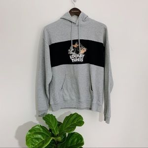 Looney Tunes Hoodie Hooded Sweatshirt Size Large